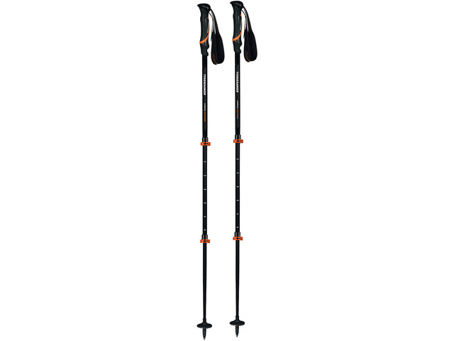 Komperdell Hikemaster Compact Powerlock Bâtons, black/orange